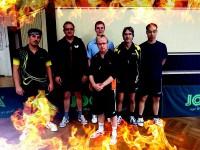 1. Herren 2014/15 mit Walter, Frank G., Marc, Rainer, Stefan und Yuan (v.l.n.r.)