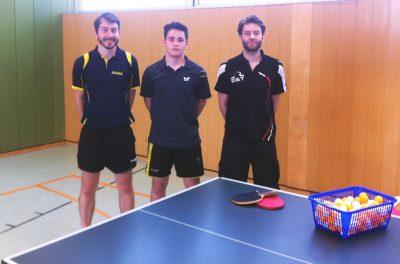 Unser Trainerteam für den Kinder- und Jugendbereich: Cornelius, Stefan & Dennis (v.l.n.r.)