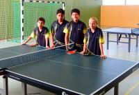 Unser aktuelles A-Schüler Team mit Roland, Roham, Max & Joélle (v.l.n.r.)