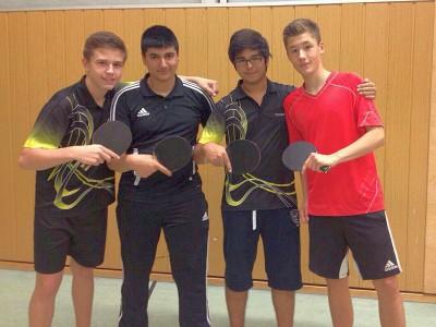 Unser Jungenteam der aktuellen Saison mit Florian, Abdussamed, Mustafa-Kemal & Arthur (v.l.n.r.)
