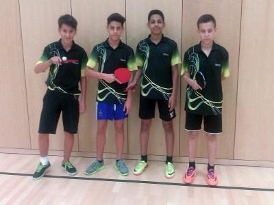 A-Schüler 2014/15 mit Maxim, Aria, Hani und Enrico (v.l.n.r.)