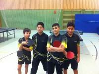 Unsere erfolgreichen B-Schüler mit Roland, Max, Eyybbcan & Roham (v.l.n.r.)