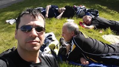 Mettingen 2016 - Beim Sonnenbad in den Pausen