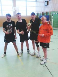 So sehen Sieger aus: Dennis, Marc, Einzelmeister Samir & Rainer