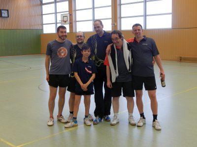 Trotz toller Spiele und großem Einsatz hat es dieses Mal nicht für eine Medaille gereich: Cornelius, Rolan, Peter A., Norman, Norbert, Frank B. (v.l.n.r.)