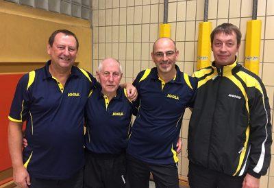 Unser aktuelles 2. Seniorenteam mit Gerd, Horst, Carsten & Marcus (v.l.n.r.)