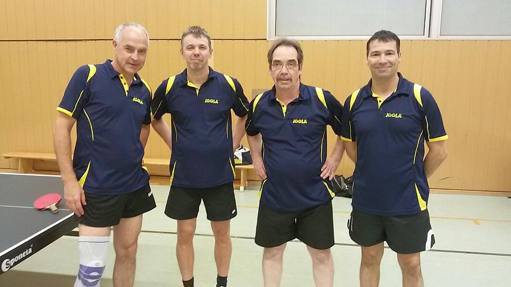 Unser aktuelles 2. Seniorenteam mit Kersten, Frank B., Norbert & Andreas S. (v.l.n.r.)