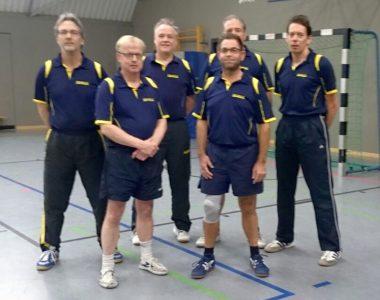 Unsere 1. Herrenmannschaft der aktuellen Saison mit Stefan, Rainer L., Martin, Michel B., Frank G. & Samir (v.l.n.r.)