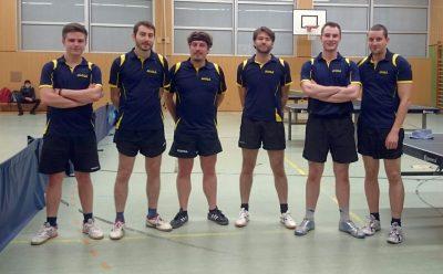 Unser aktuelles 2. Herrenteam mit Florian, Cornelius, Walter, Dennis, Marc & Stephan (v.l.n.r.)