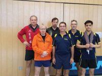 Unsere 1. Herrenmannschaft mit Frank G., Rainer L., Samir, Michel B., Stefan & Aria (v.l.n.r.)