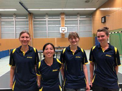 Unser 1. Damenteam der Saison 2019/20 mit Katja, Sanae, Jessica & Sina (v.l.n.r.)