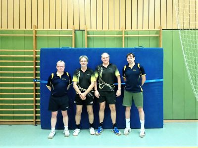 Unser 1. Seniorenteam der aktuellen Saison mit Rainer L., Stefan, Frank G. & Samir